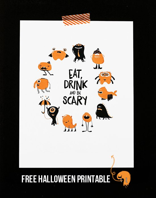 Eat Drink and Be Scary Printable - Live Laugh Rowe