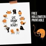 Eat Drink and Be Scary Printable