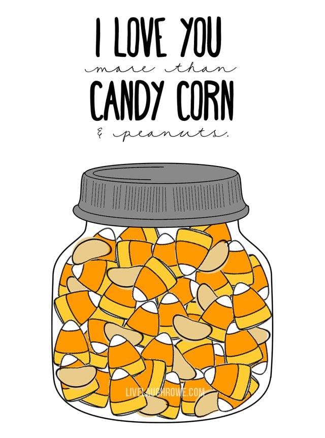 Candy Corn Printables livelaughrowe
