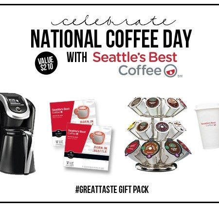 National Coffee Day Celebration with Seattle's Best. A fabulous #giveaway hosted at livelaughrowe.com