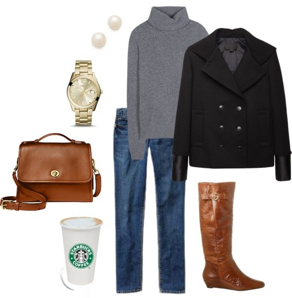One of my Fall and Winter Staples! Sweater,Boots and Peacoat. Live Laugh Rowe