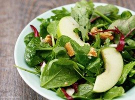 Arugula, Radicchio and Apple Salad from Cooking Planit. #EatFreshChallenge