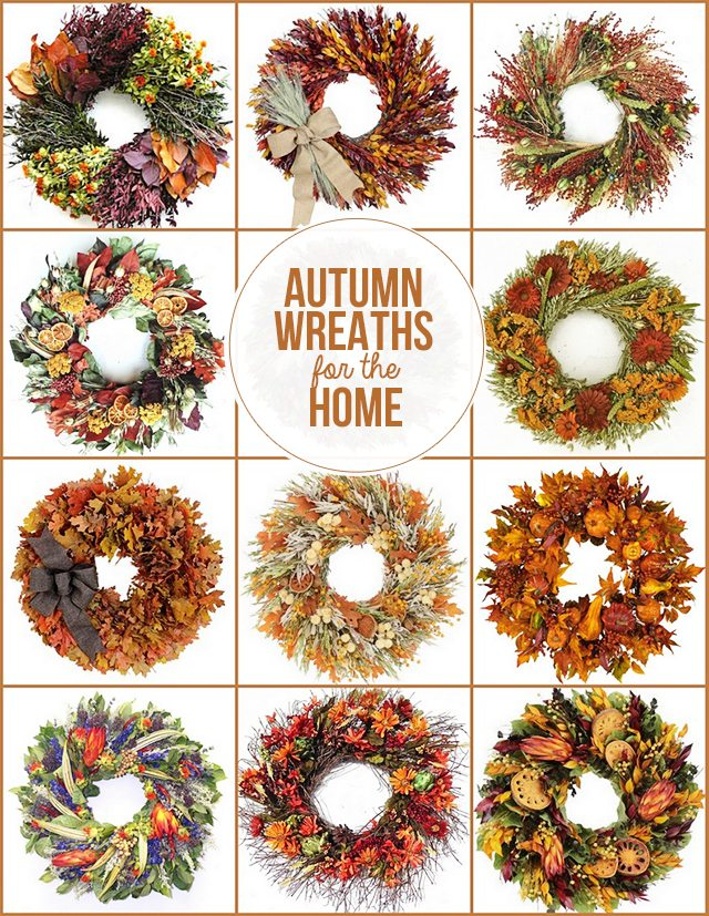 Beautiful Autumn Wreaths for the Home from The Wreath Depot.  Learn more at livelaughrowe.com