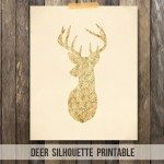 Deer Silhouette Printable