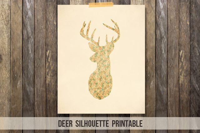 image relating to Deer Silhouette Printable known as Deer Silhouette Printable - Reside Snicker Rowe