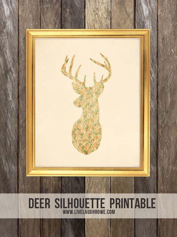 photograph relating to Deer Silhouette Printable identify Deer Silhouette Printable - Dwell Chuckle Rowe