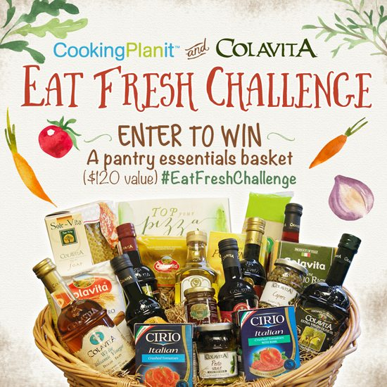 Enter to win a pantry essentials basket ($120 value). #EatFreshChallenge www.livelaughrowe.com