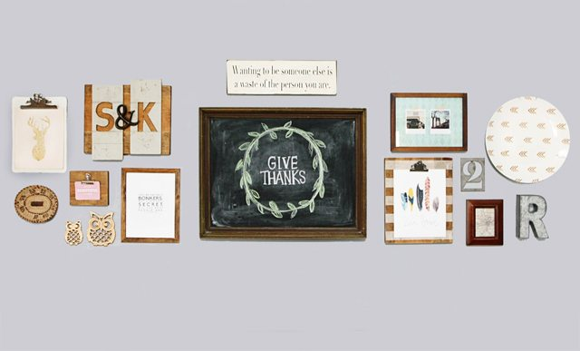Fall Home Tour.  Gallery wall in my Dining Room.  www.livelaughrowe.com