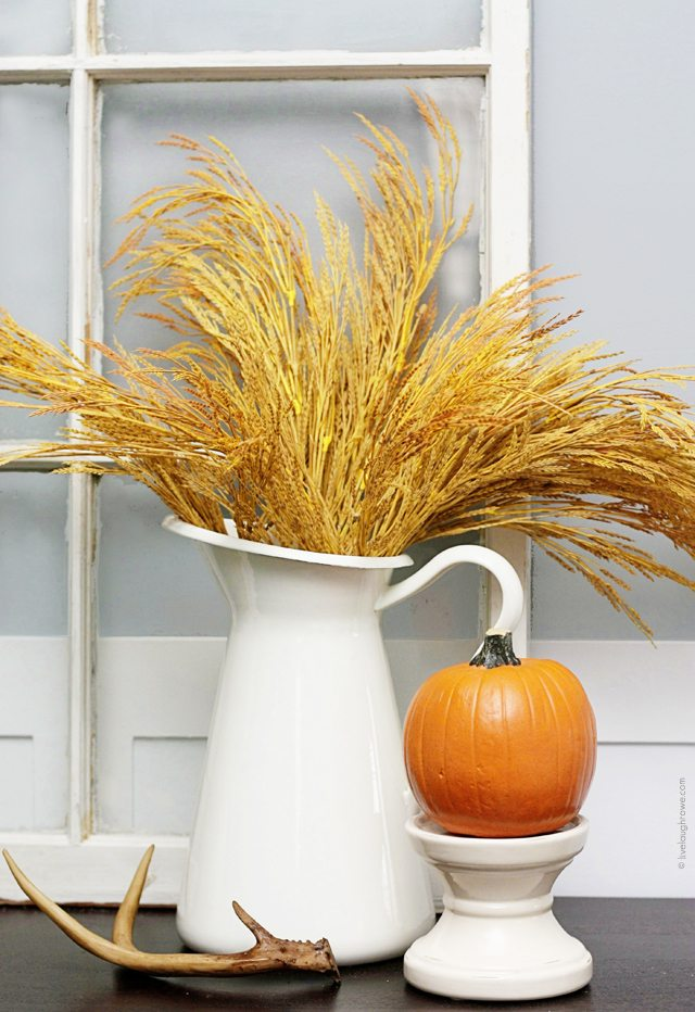 Fall Home Tour 2104.  Dining Room Vignette.  www.livelaughrowe.com