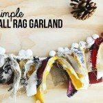 Simple Fall Rag Garland