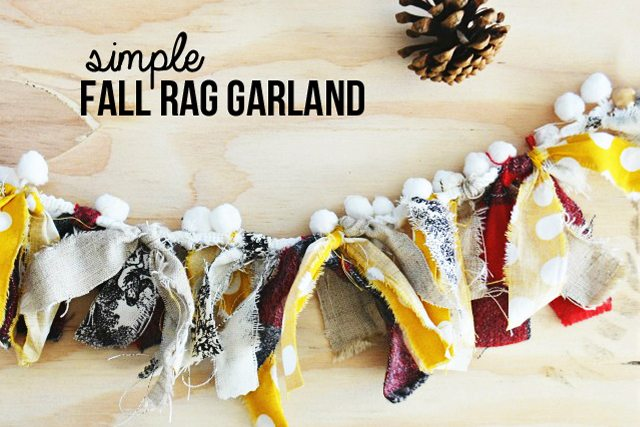 ADORABLE Fall Rag Garland!