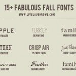 15+ Fabulous Fall Fonts