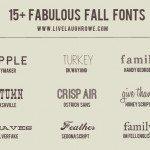 15+ Fabulous Fall Fonts