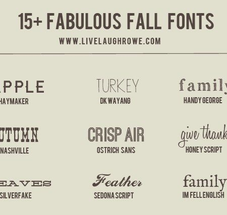 15+ Fabulous and Free Fall Fonts! Oh the possibilities.... www.livelaughrowe.com