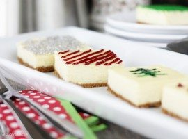 It's party season! Planning a Potluck? Take these Holiday Cheesecake Presents along -- they'll be gifts to your co-workers tastebuds. www.livelaughrowe.com