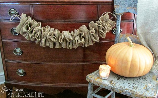 Simple Ruffle Burlap Banner - Glamour Affordable Life