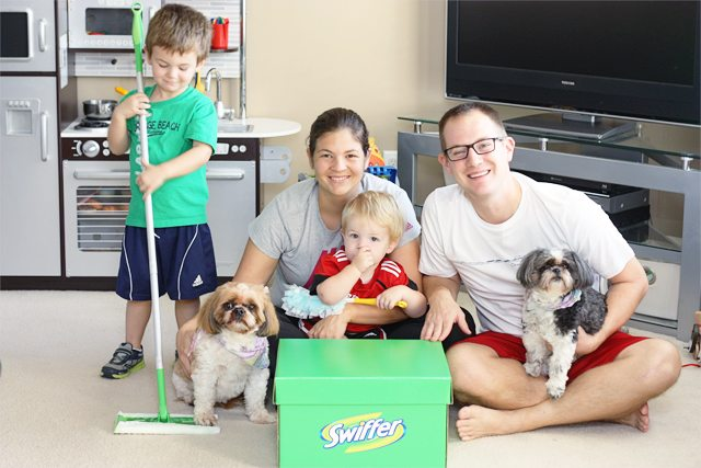 "Swiffer. A pet owners ""other"" best friend! I love that I can keep my floors looking like new with the help of Swiffer. #SwifferEffect"
