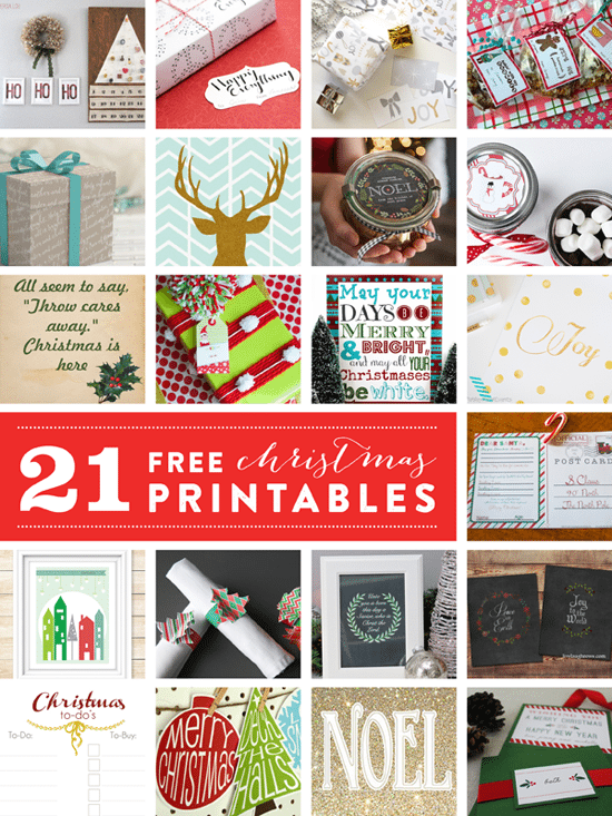 21 Christmas Printables from Live Laugh Rowe and Friends