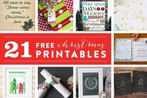 21 Free Christmas Printables from Live Laugh Rowe and friends!