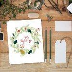 Be Merry Christmas Printable