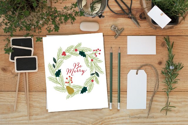 Tis the Season! Loving this Be Merry Christmas Printable from livelaughrowe.com