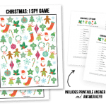 Christmas I Spy Printable