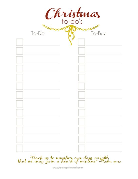 Christmas Printable from Dancing with my Father