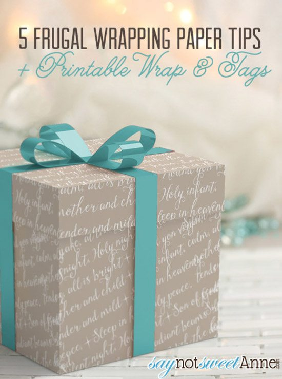 Christmas Printable from Say Not Sweet Anne
