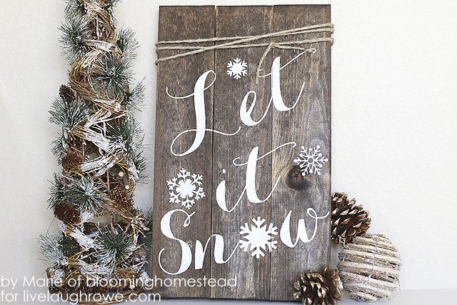 Let it Snow Wooden Sign by Live Laugh Rowe