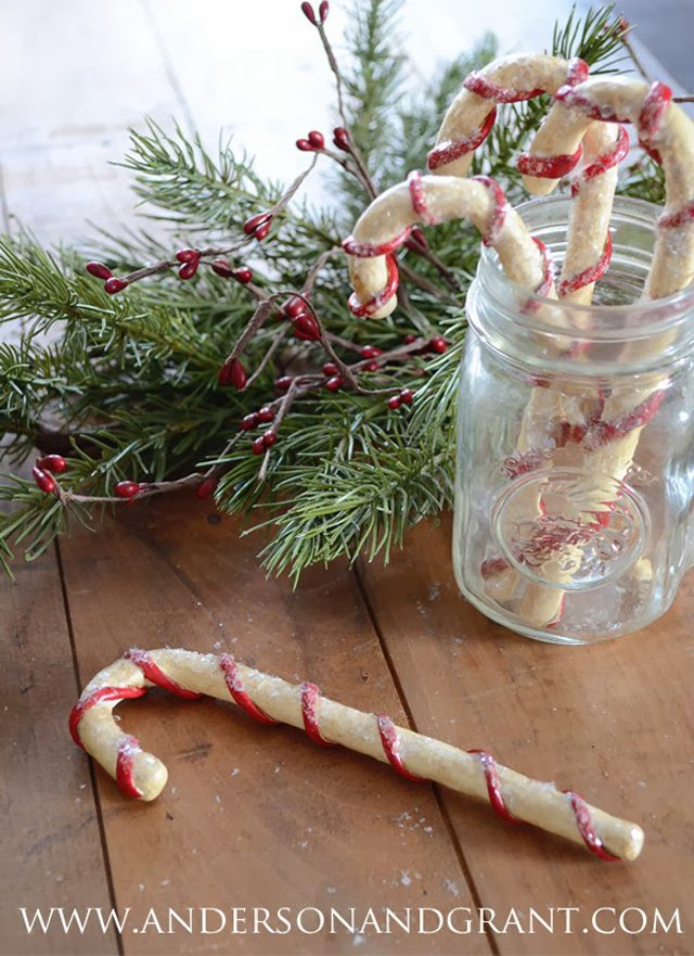 How to make primitive candy canes title picture