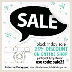 Kristine Lynn Photography Black Friday SALE