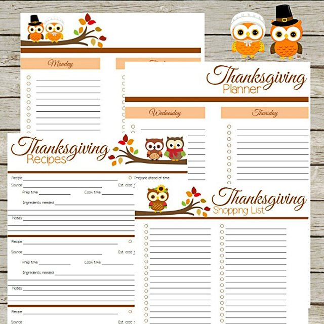 Thanksgiving Planner Printables