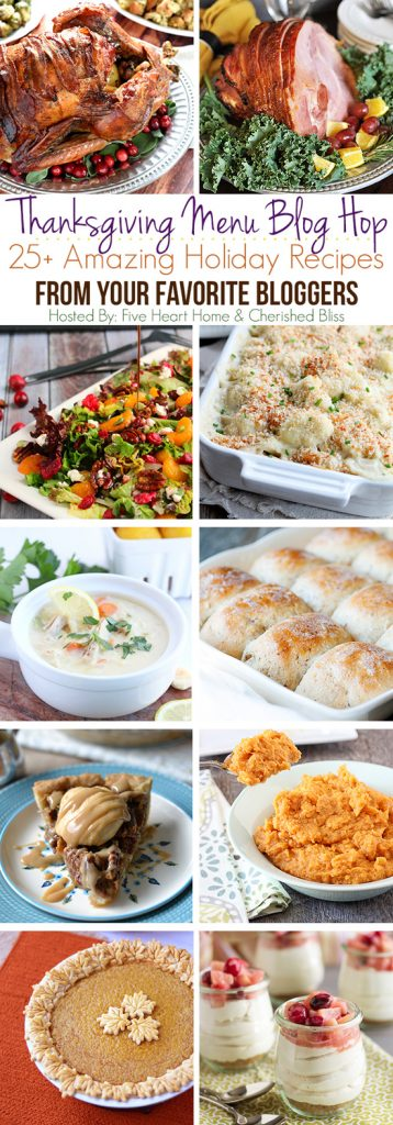 Thanksgiving Recipes Galore! 25+ Thanksgiving Recipes from some of your favorite bloggers! www.livelaughrowe.com