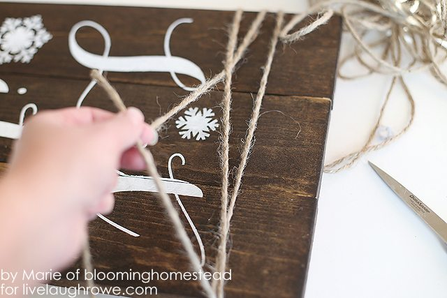 Tying jute around the wood adds a rustic touch!