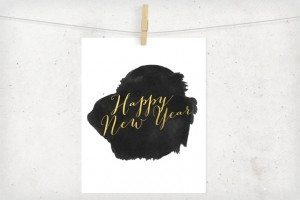 Gold Foil New Year's Printable