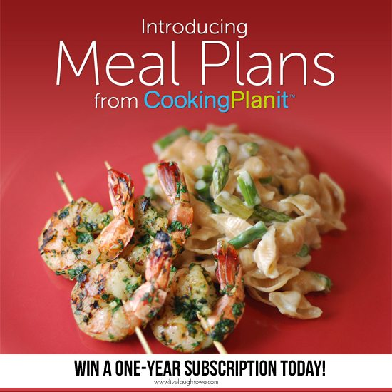 Introducing Meal Plans with Cooking PlanIt!  Enter to win a FREE One-Year Subscription with www.livelaughrowe.com #giveaway