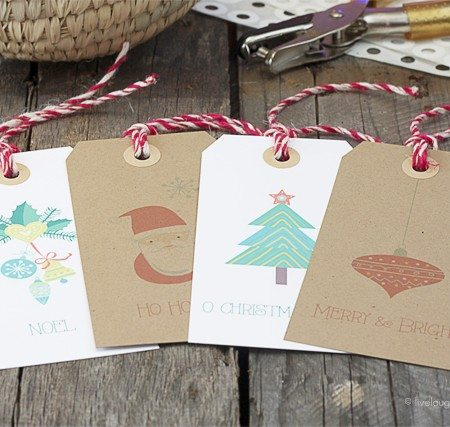 Free Printable Christmas Gift Tags! Print. Cut. Attach. Perfectly festive gift tags to use for your holiday gift giving! www.livelaughrowe.com