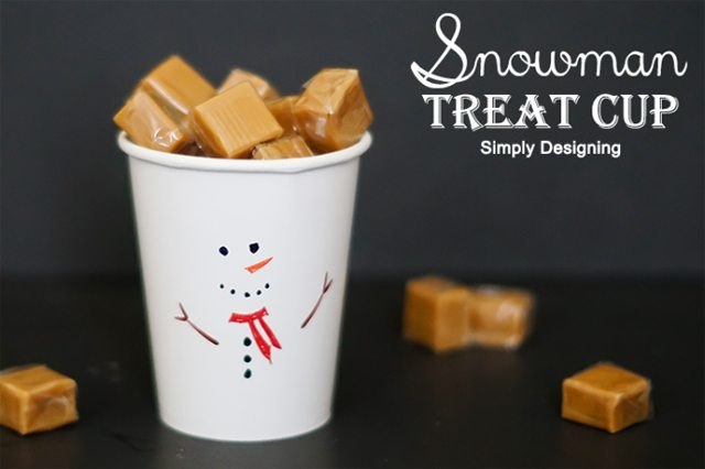 Snowman Treat Cup by Simply Designing