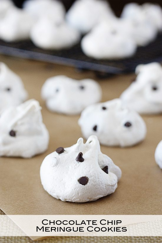 If you have a sweet tooth, then these Chocolate Chip Meringue Cookies are for you!  Weight Watchers friendly too. Recipe at www.livelaughrowe.com #cookies #weightwatchers #dessert