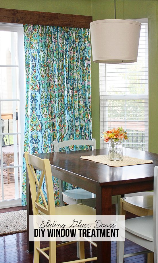 Window Treatments For Sliding Glass Doors : Diy window treatment for sliding glass doors