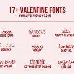 17+ Free Valentine Fonts