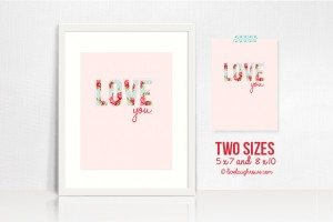 Shabby Chic Printable | Love you!