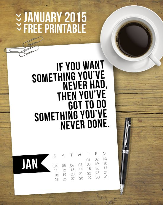 Calendar Inspirational : January calendar free printable live laugh rowe
