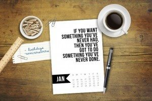 Free 5x7 Printable Calendar for January 2015 with inspirational quote! www.livelaughrowe.com