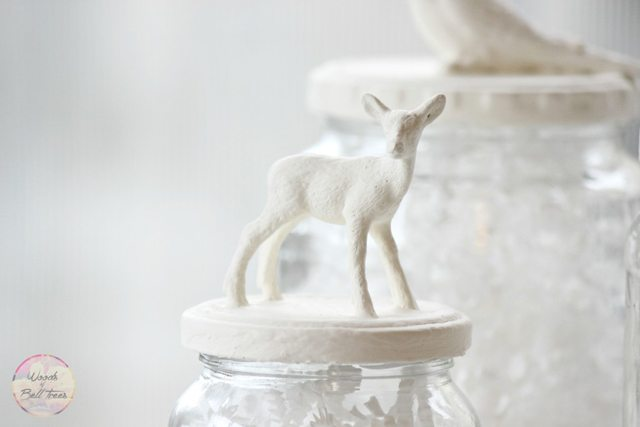Painted Animal Jars using chalk paint from Woods of Bell Trees