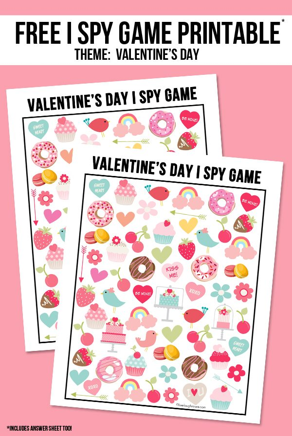 Valentine's Day I Spy Game Graphic