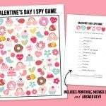 Valentine's Day I Spy Printable for Kids