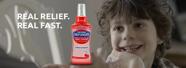 Want instant relief from a sore throat? Real Relief. Real Fast with Chloraseptic - Live Laugh Rowe