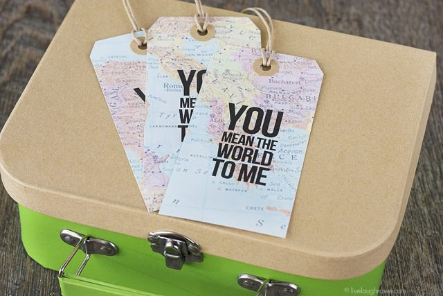 Travel care package with map gift tags live laugh rowe a sweet travel themed care package with free map gift tags that say you gumiabroncs