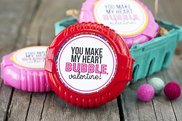 Bubble Gum Valentines Printable Live Laugh Rowe